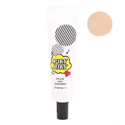 [Tonymoly] PIKY BIKY Art Pop Correcting Foundation #01 (Vanilla) 30g