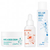 [Jumiso] JUMISO Skincare Set (Yes I Am Toner AHA 5%+Drop The Vita C Facial Serum+Have A Good Cream Snail & Centella)
