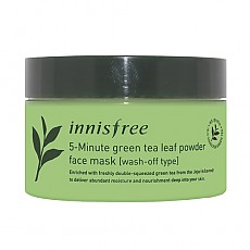 [Innisfree] 5-Minute Green Tea Leaf Powder Face mascarilla 70g
