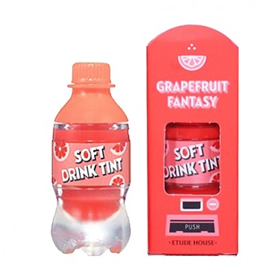 [Etude House] Soft Drink tinte labial #OR201 (Grapefruit Fantasy)