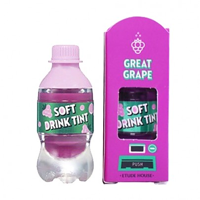 [Etude House] Soft Drink tinte labial #PP501 (Great Grape)