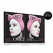 [double dare] OMG! 2IN1 KIT Detox Bubbling Mascarilla microfibra