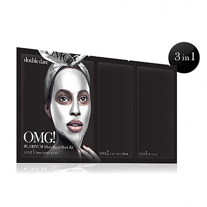 [double dare] OMG! Platinum Kit de mascarilla de plata