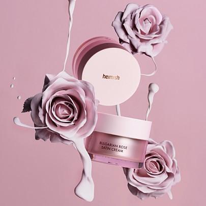 [Heimish] Satin Crema de rosa búlgara