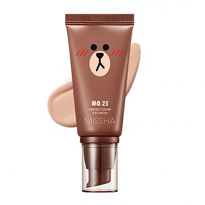 [Missha] Line Friends 2018 Perfect Cover BB Cream #23 (Natural Beige)