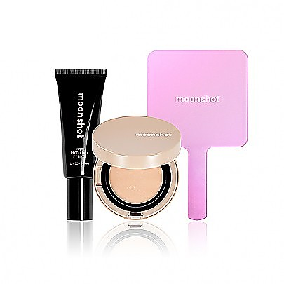 [Moonshot] Moonshot Balm Cushion Set #301 (Face Perfection Balm Cushion 301+Multi Protection UV Fixer+Mirror)