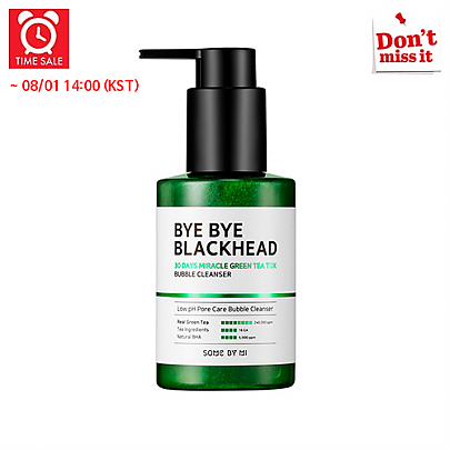 [SOME BY MI] *Time Deal*  Bye Bye Blackhead 30Days Miracle Green Tea Tox Bubble Cleanser 120g