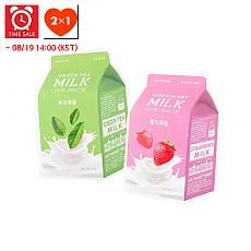 [A'PIEU] *Time Deal*  Milk One Pack #Strawberry Milk + #Greentea Milk