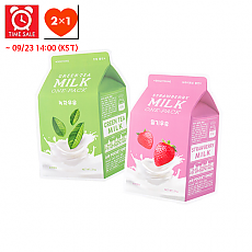 [A'PIEU] *Time Deal*  Milk One Pack #Strawberry Milk + #Greentea Milk
