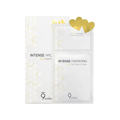 [9wishes] Intense Hydrating Gold Foil Patch&Mask 2 Step (1hoja)