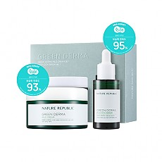 [Nature Republic] Green Derma Mild Cream SET With CICA SERUM Ver.1 (Cream 190ml+Serum 30ml)