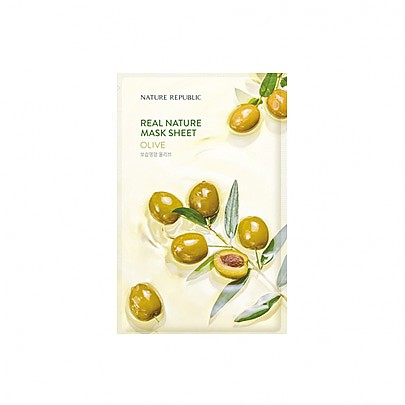 [Nature Republic] Real Nature Mask Sheet/ Olive 23ml