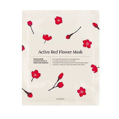 [HYGGEE] Active Red Flower Mascarilla (10hojas)