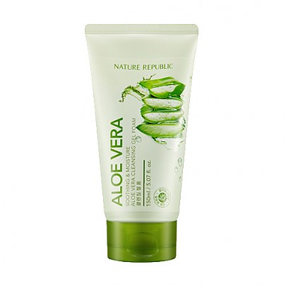 [Nature Republic] Soothing & Moisture Aloe Vera Cleansing Gel Foam