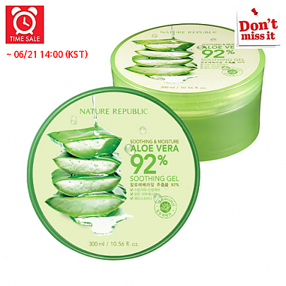 [Nature Republic] *Time Deal*  Aloe Vera Soothing Gel, 92% Soothing and Moisture, 300ml
