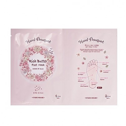 [Etude house] Hand Bouquet Rich butter Foot mascarilla